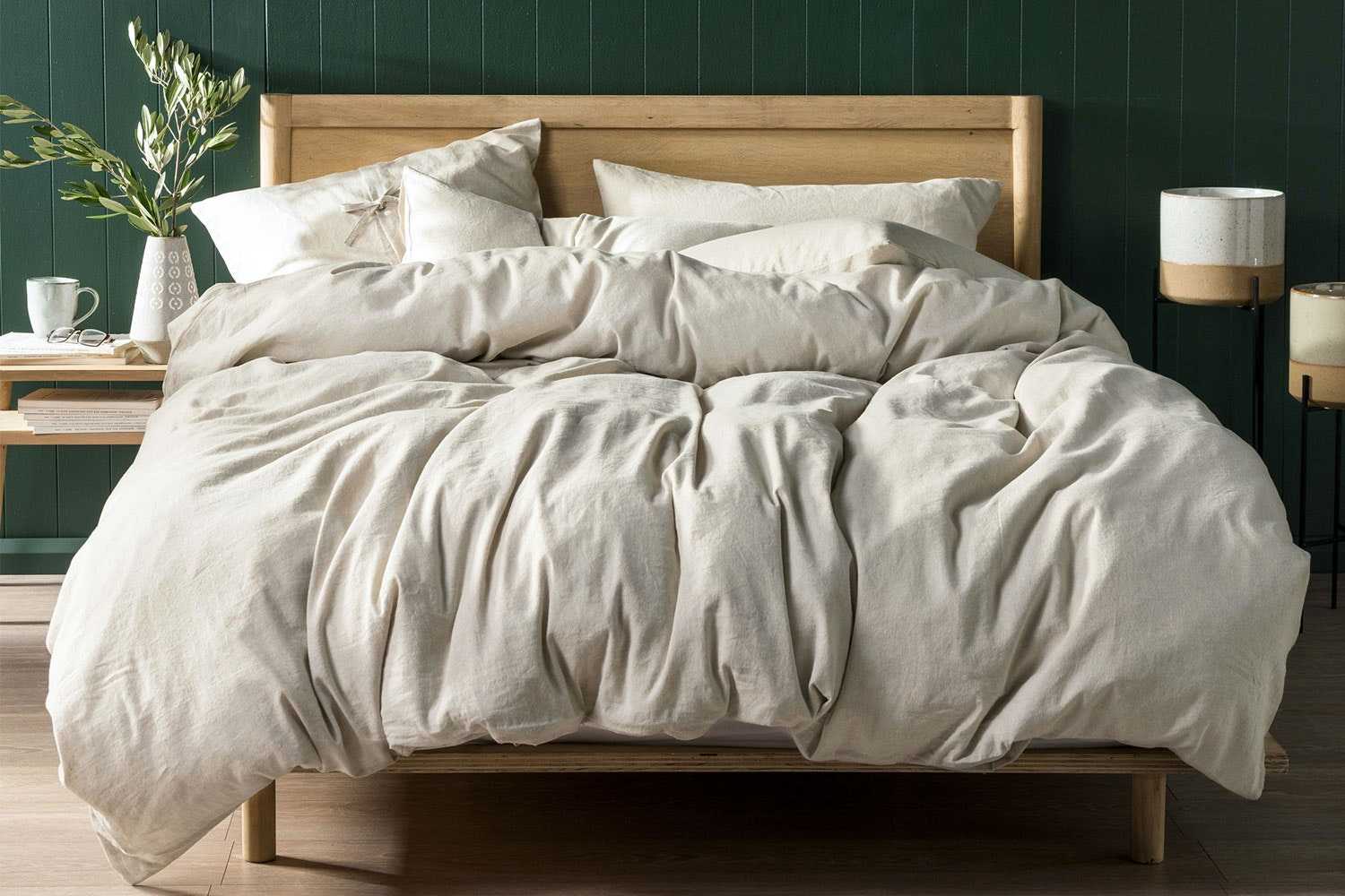 Nimes Natural Duvet Cover Set by Savona