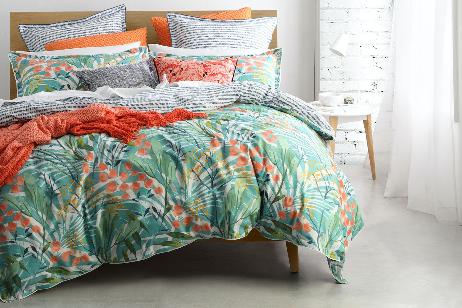 Norfolk Teal Duvet Cover Set by Logan and Mason