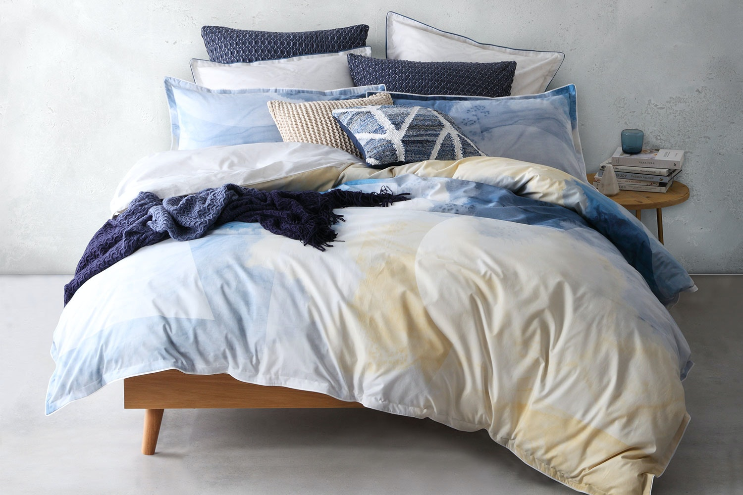 Oki Navy Duvet Cover Set by Logan and Mason