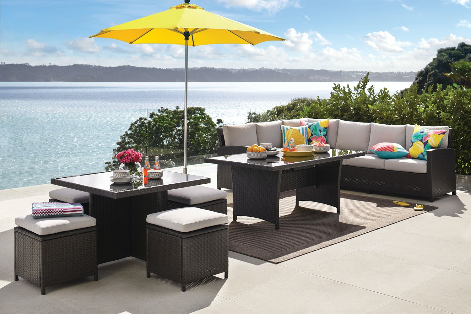 Conrad Outdoor Corner Lounge and Dining Setting