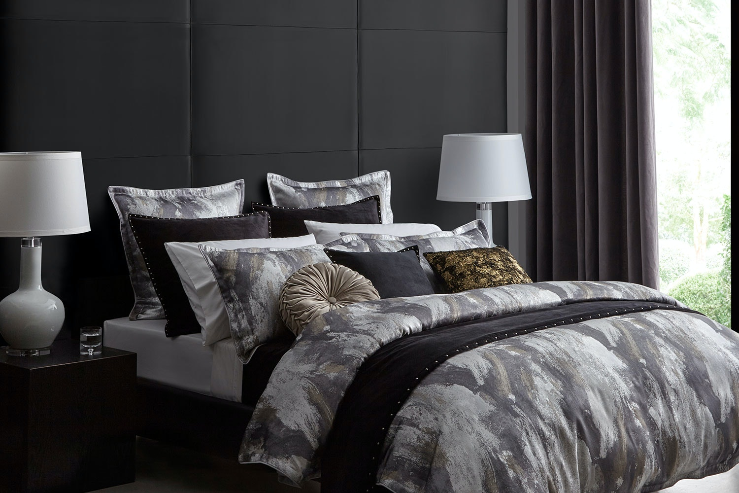 Vasari Silver Duvet Cover Set by Da Vinci
