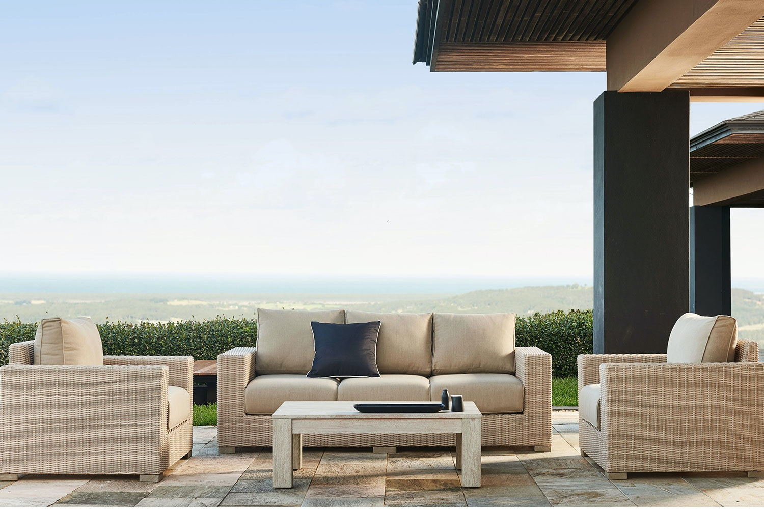 Verena 4 Piece Outdoor Lounge Setting