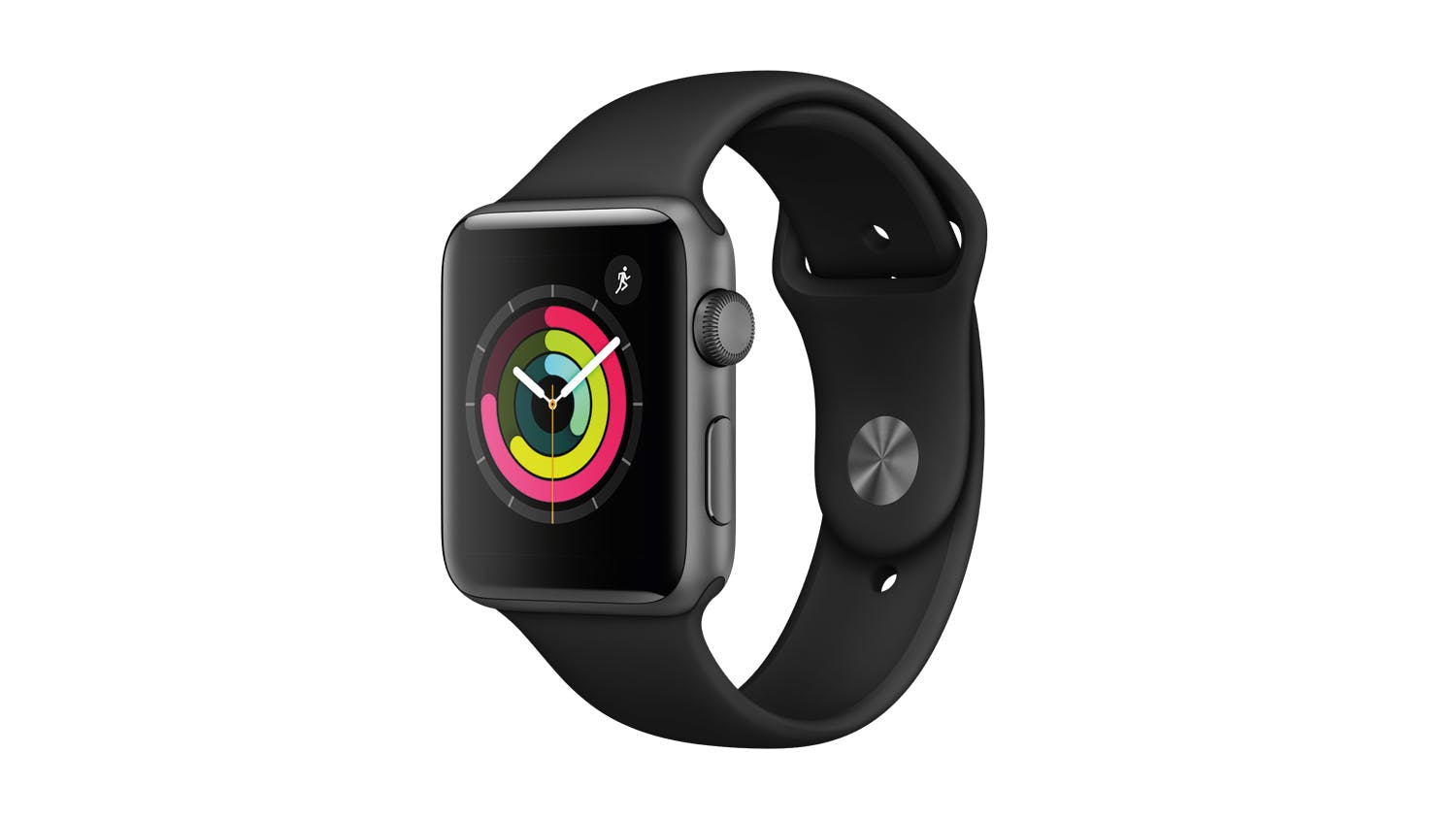 aa81436921a Apple Watch Series 3 (GPS) 42mm Space Grey + Black Sport Band | Harvey  Norman New Zealand
