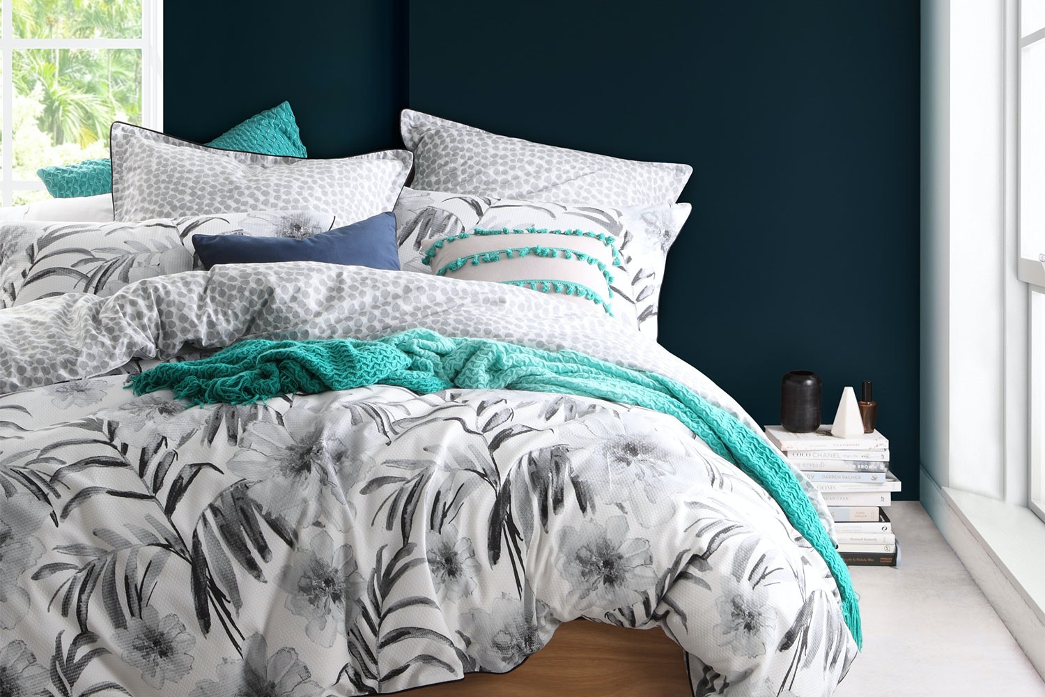 Bahama Silver Duvet Cover Set by Platinum Collection