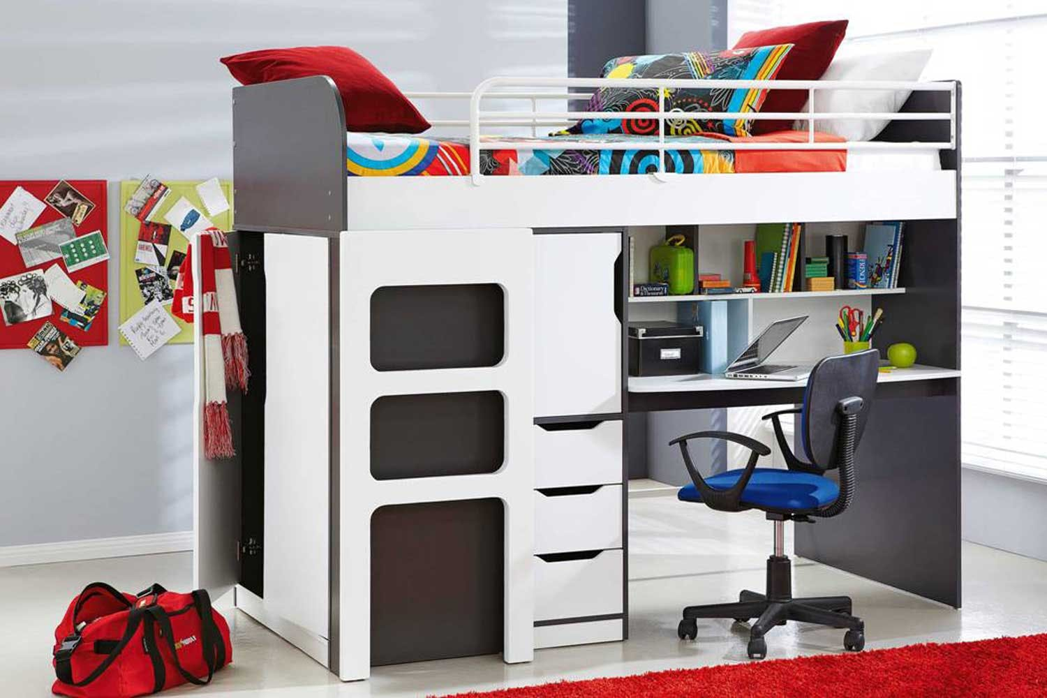 Oxford Single Bunk Bed Frame With Workstation By John Young - Harvey norman bunk beds