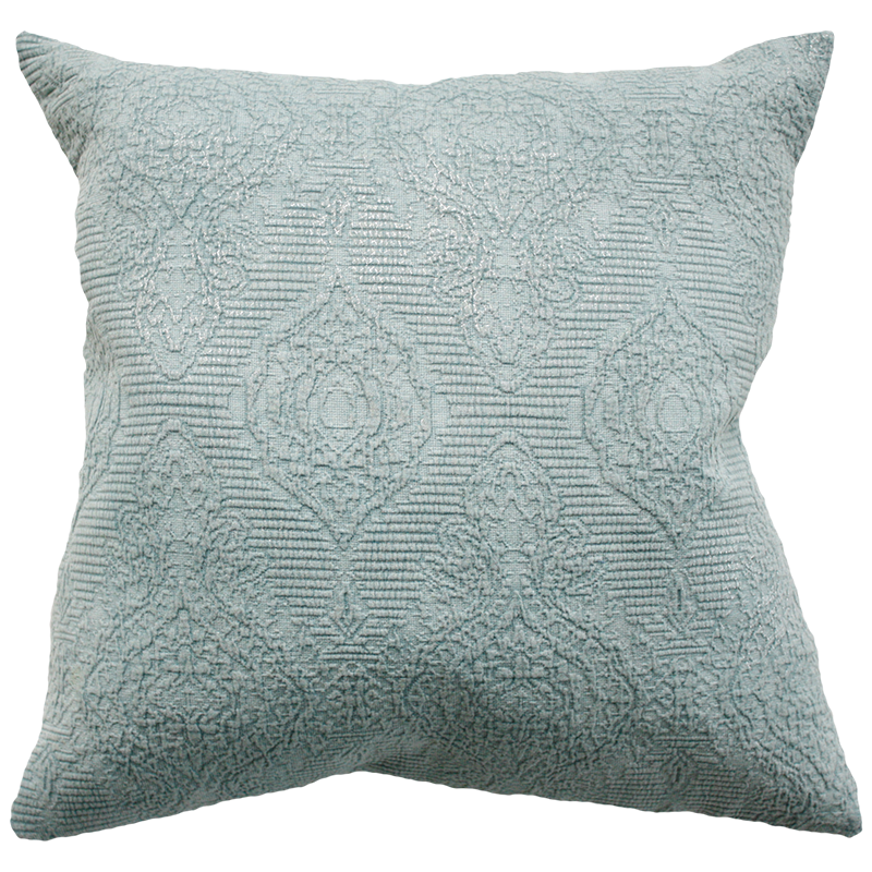 Alchemy Duck Egg Silver Foil Square Cushion