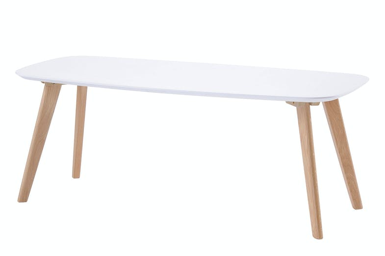 White Clare Rectangle Coffee Table by Nero Furniture