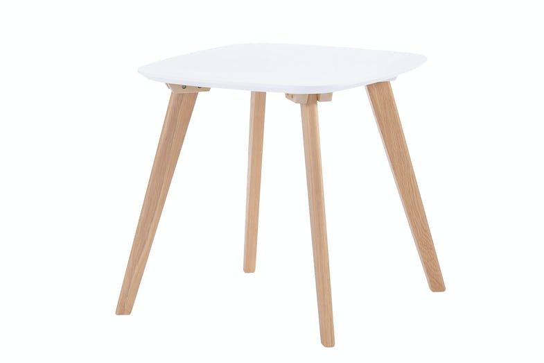 White Clare Square Side Table by Nero Furniture
