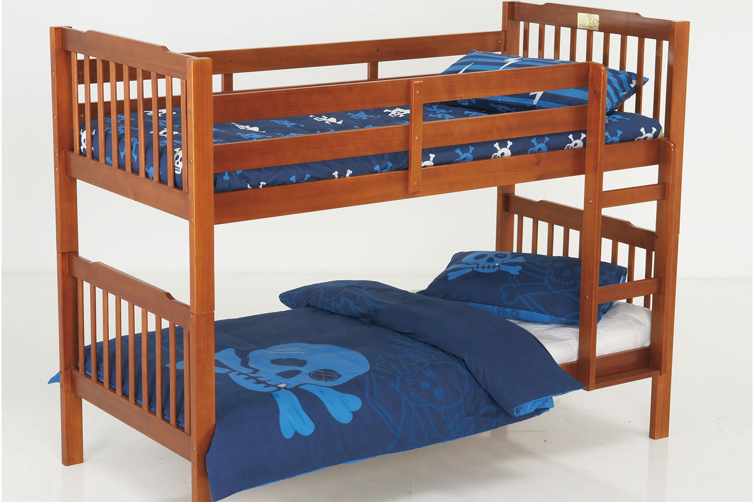 Oak Jessica Single Bunk Bed Frame by Nero Furniture