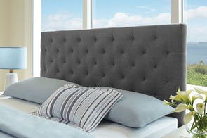 Grey Diaz Queen Headboard by Nero Furniture