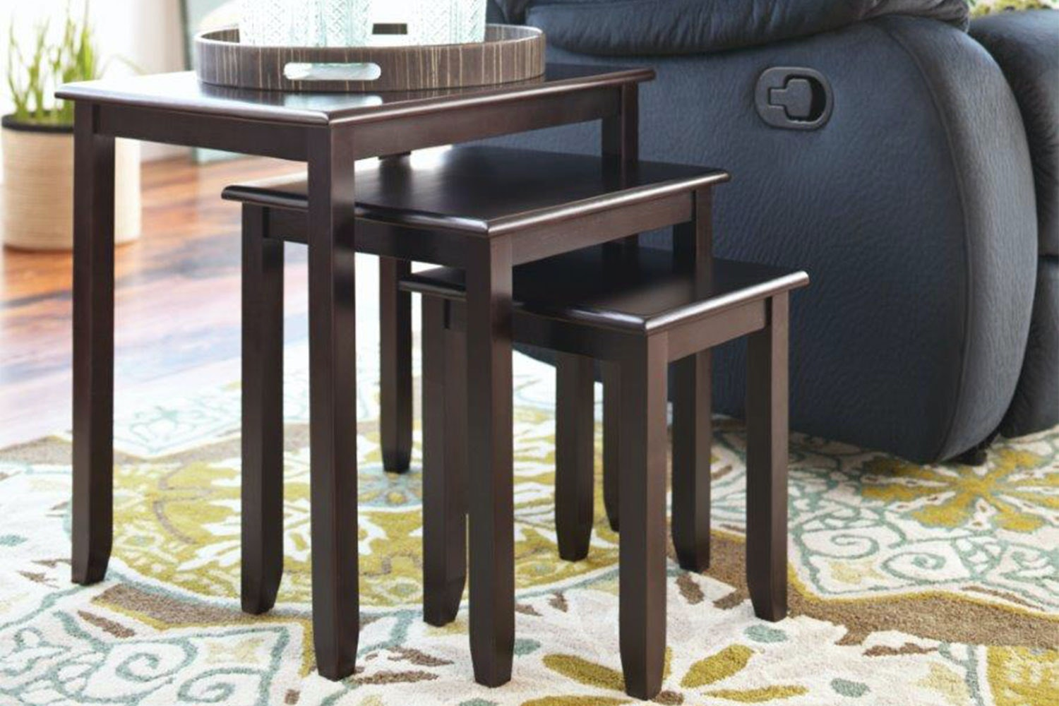 Wenge Robins Nest of 3 Tables by Nero Furniture