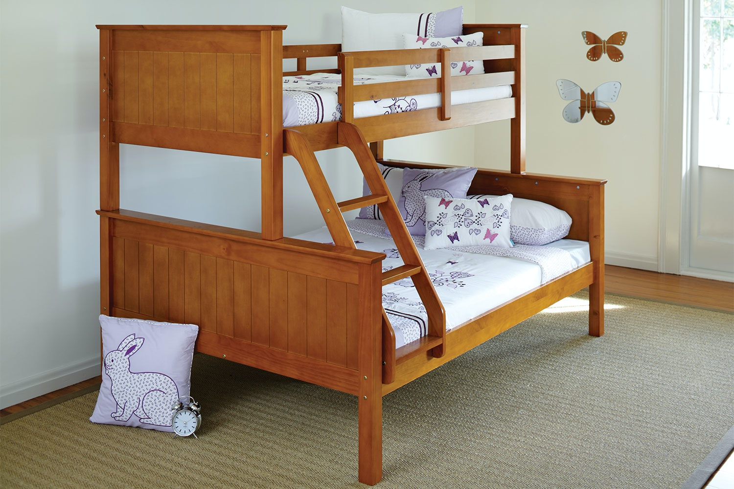 Oak Selena Duo Bunk Bed Frame by Nero Furniture
