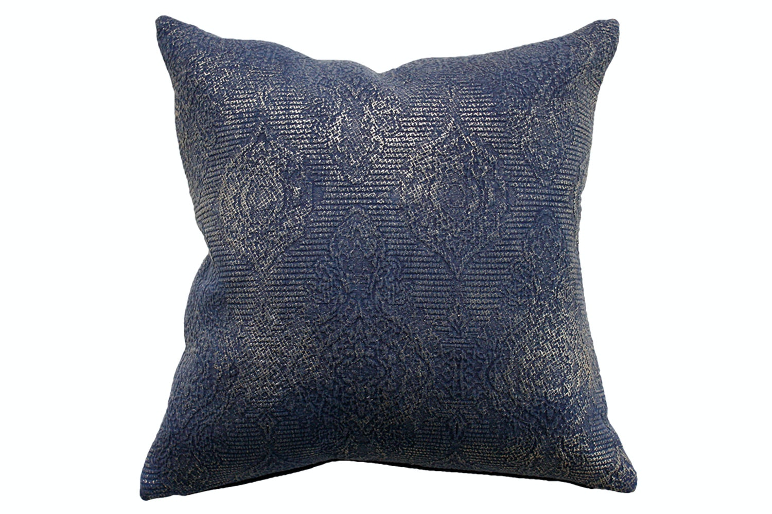 Alchemy Denim Gold Foil Square Cushion by Mulberi
