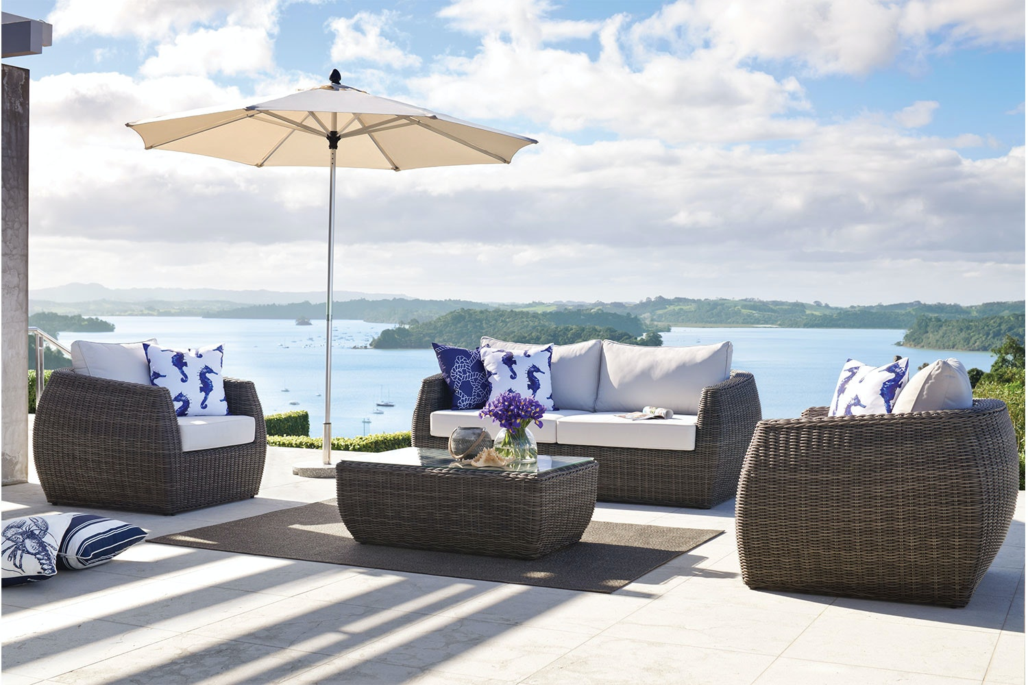 Ella 4 Piece Outdoor Lounge Setting