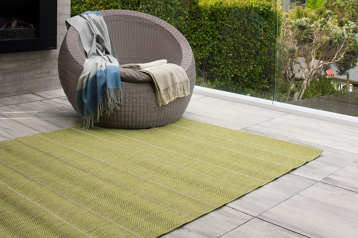 Cape Cod Rugs by Limon (1.2 x 1.7 m) Green