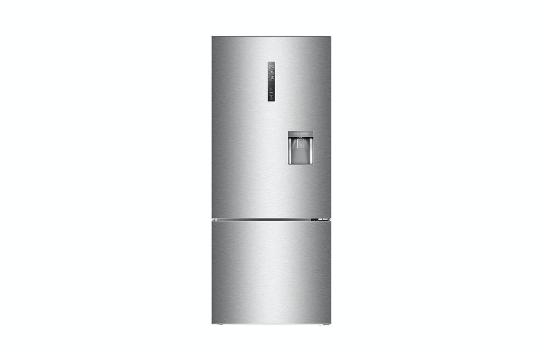 refrigerator harvey norman. haier 450l bottom mount fridge freezer - silver refrigerator harvey norman r