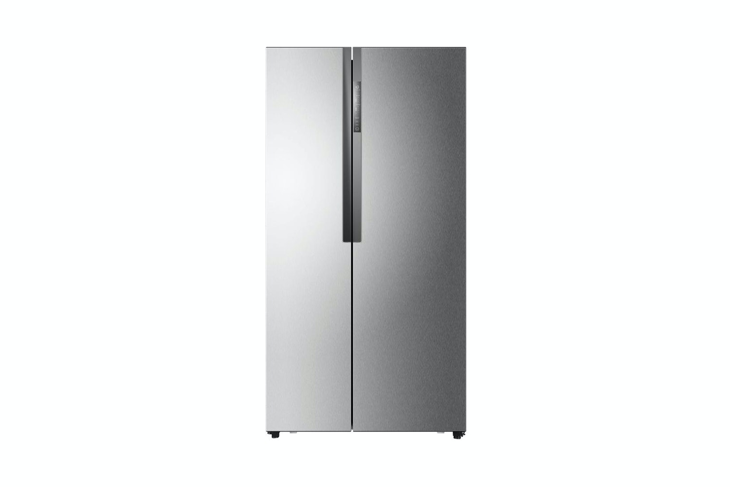 haier 555l side by side fridge freezer silver