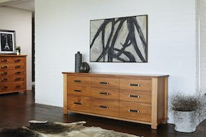 Huntsman 9 Drawer Lowboy by Ezirest Furniture