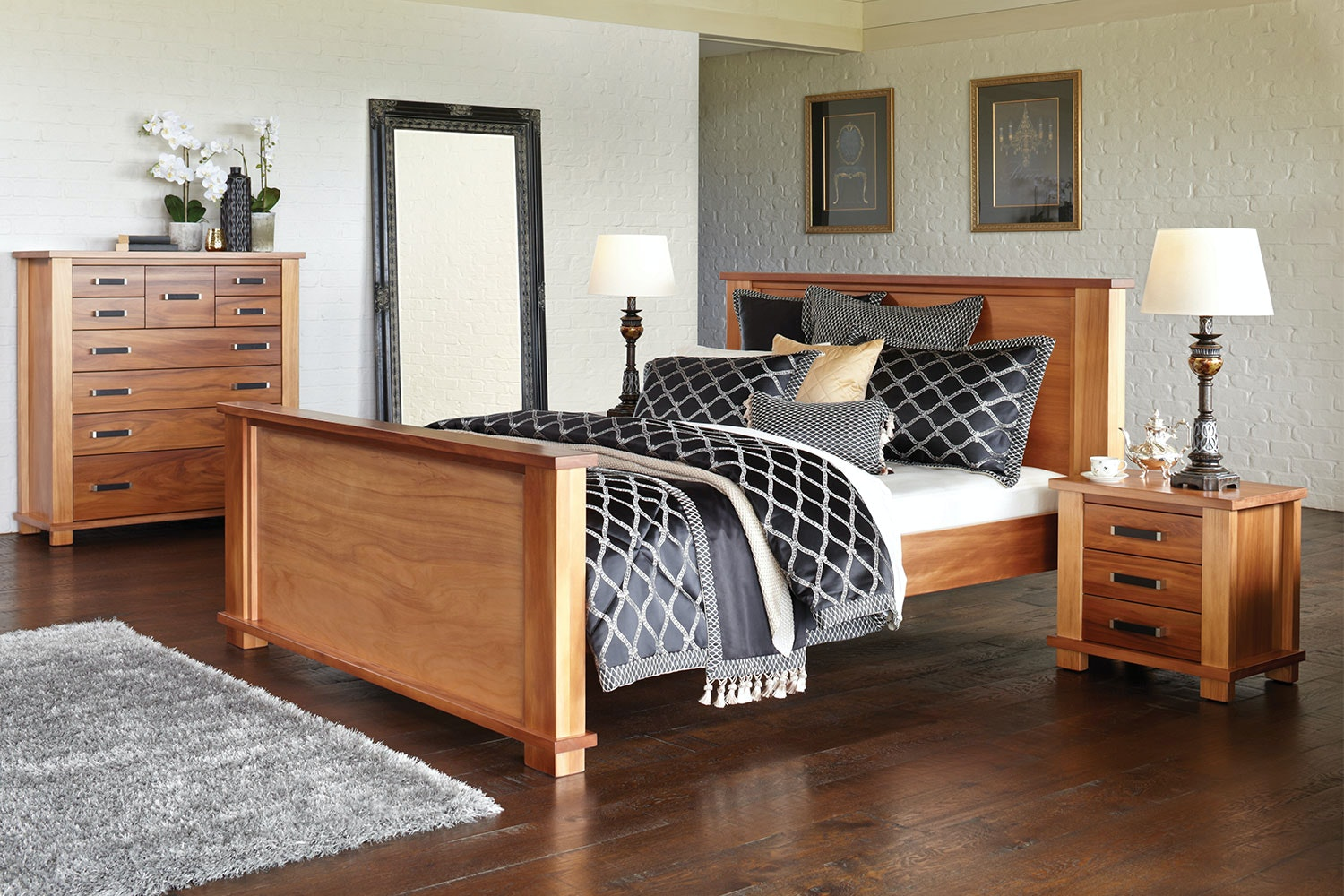 Huntsman High Foot Queen Bed Frame by Ezirest Furniture