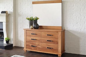 Huntsman Dresser and Mirror by Ezirest Furniture