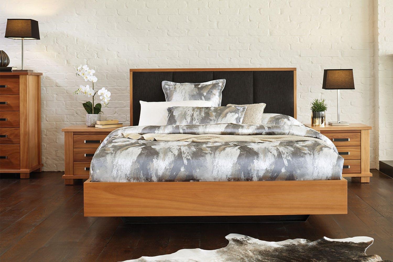 Huntsman float king bed frame by ezirest furniture