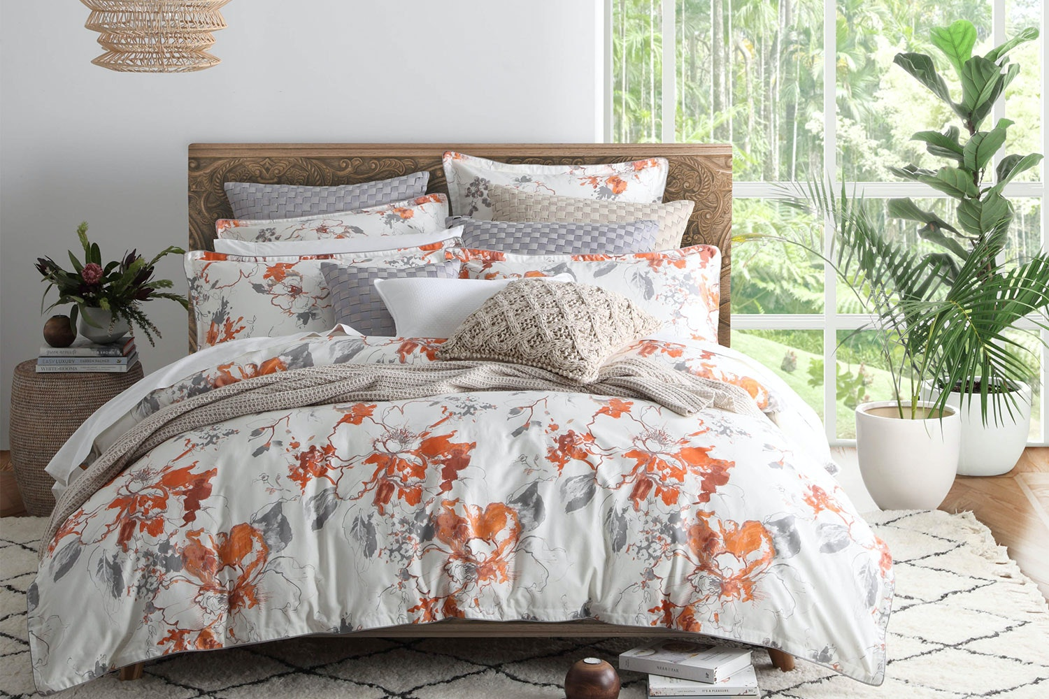 Lidia Saffron Duvet Cover Set by Private Collection
