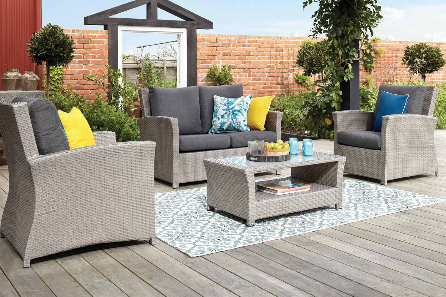 Mojito 4 Piece Outdoor Lounge Setting
