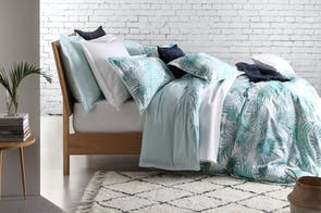 Palms Teal Duvet Cover Set by Florence Broadhurst