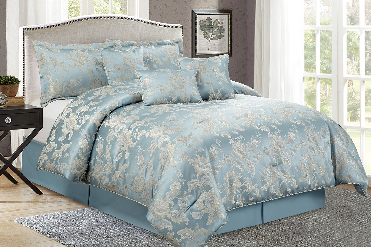 Allegra 7 Piece Comforter Set by Marlborough
