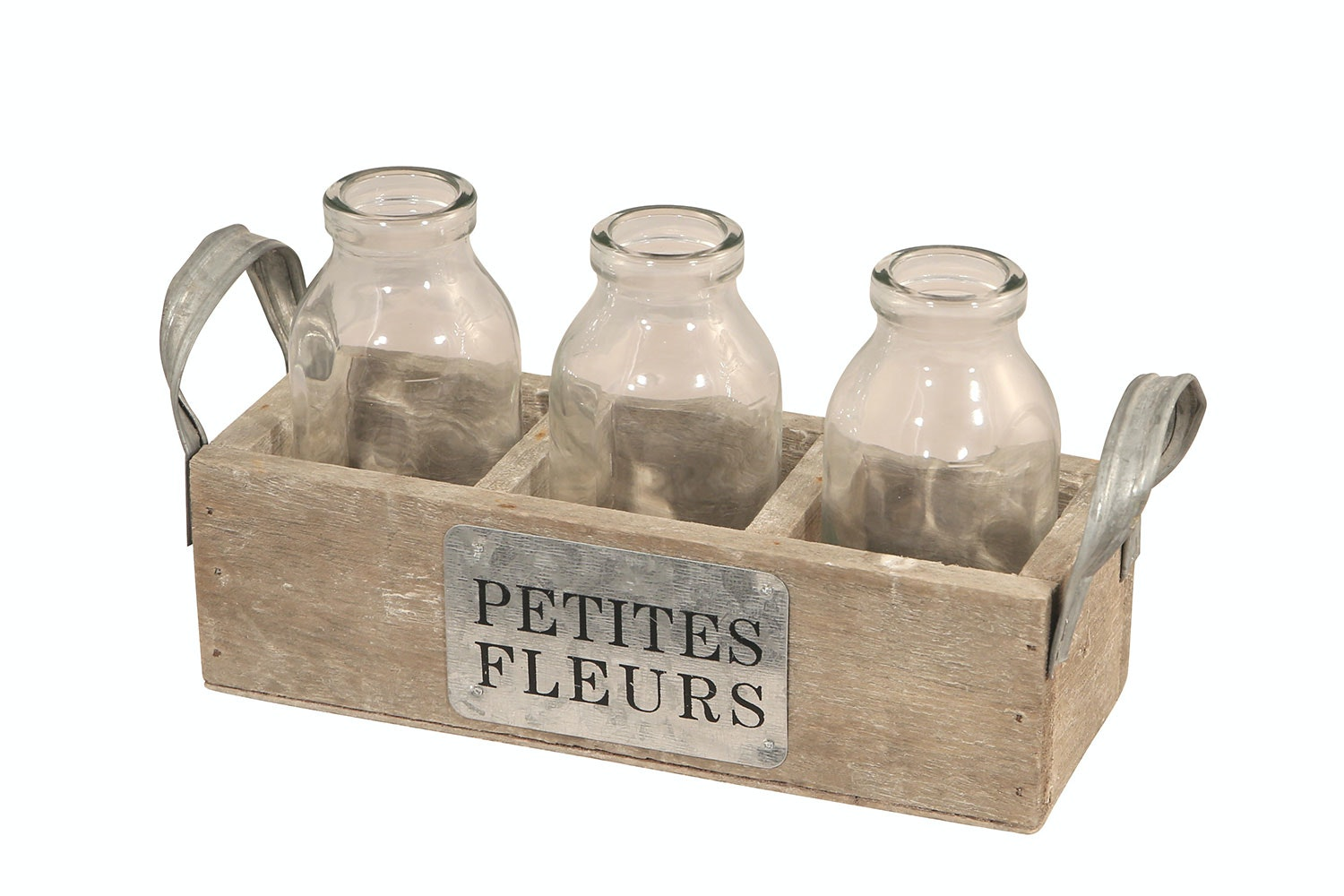 3 Piece Cream Bottle Vase by Parage