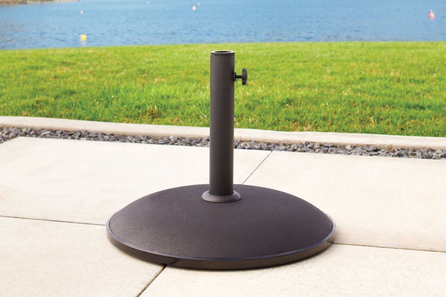 15kg Black Concrete Umbrella Base by Peros