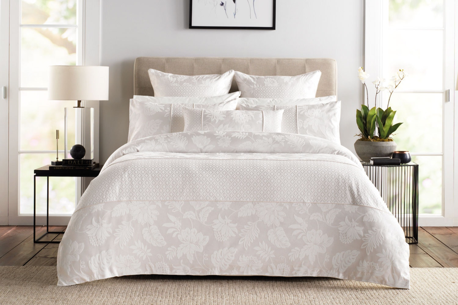 Angelis Marzipan Duvet Cover Set by Sheridan