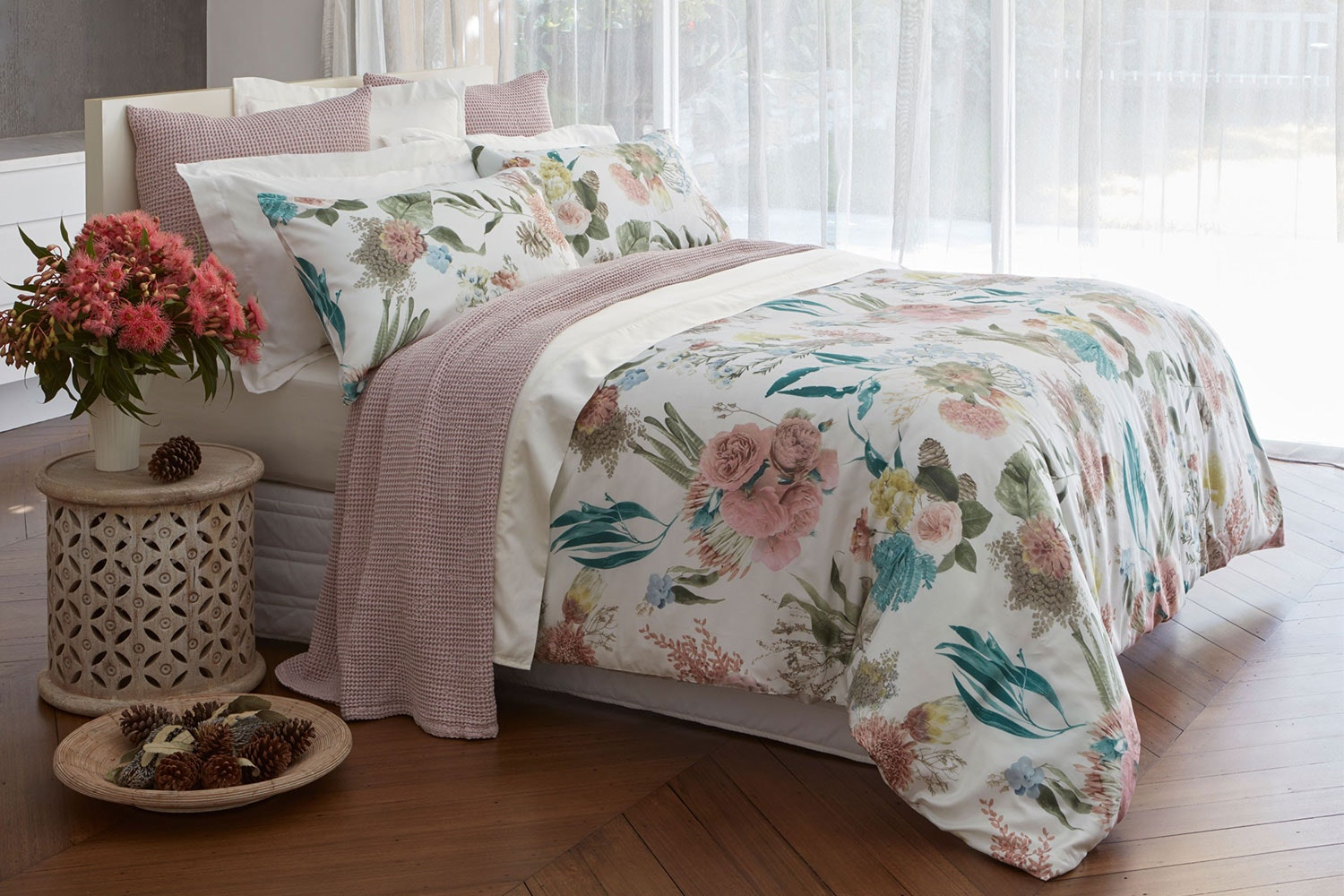 Bouquet Duvet Cover Set by Baksana