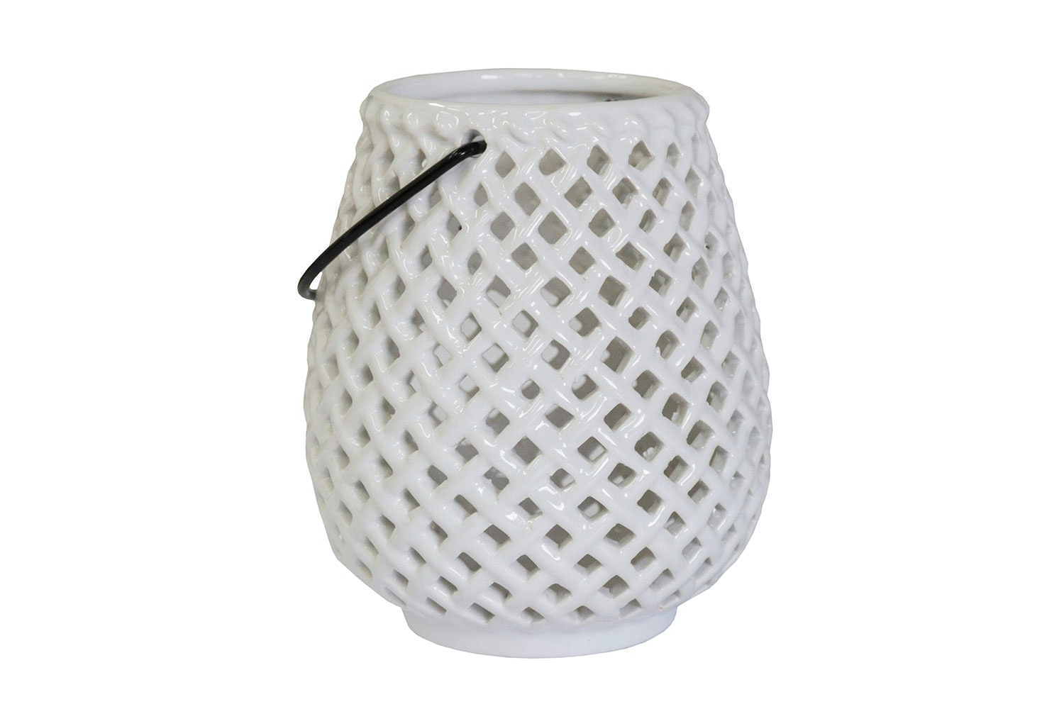 White Ceramic Candle Holder by Kerridge