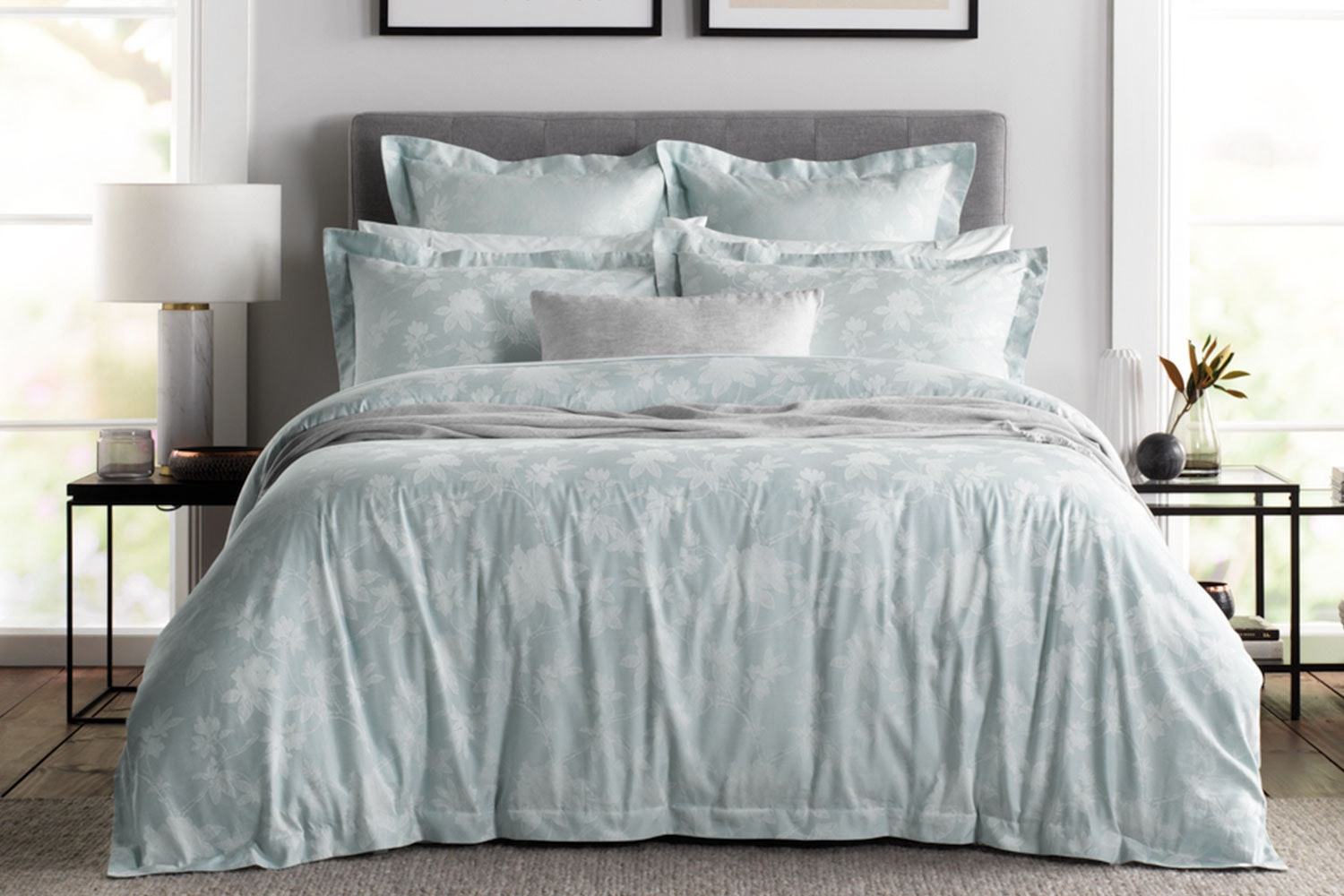 Forbes Ice Blue Duvet Cover Set by Sheridan