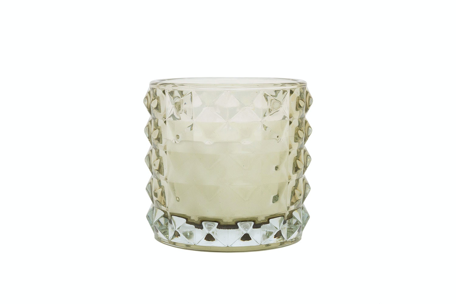 Glass Candle Holder with Candle by Kerridge