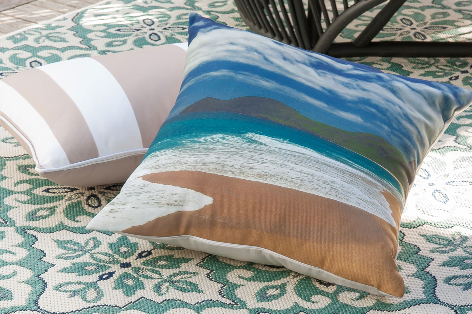 Spirits Bay Square Cushion by Limon