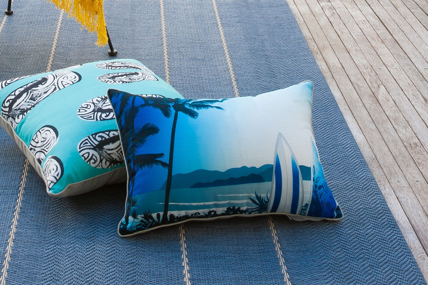 Surfs Up Rectangle Cushion by Limon
