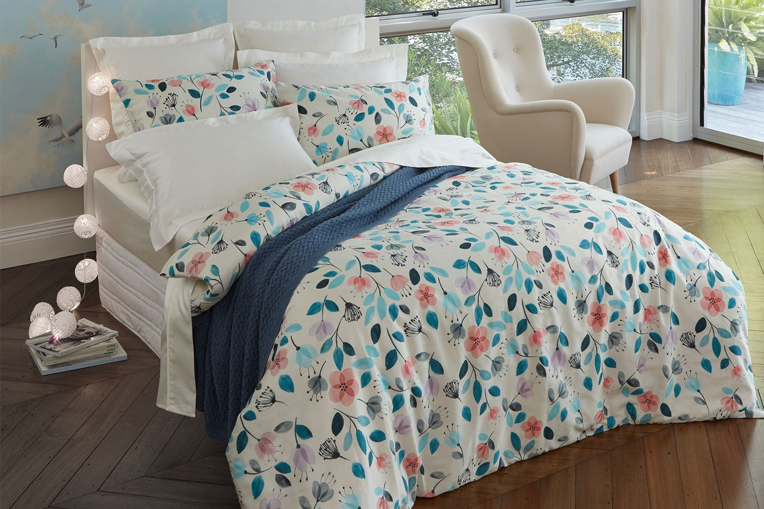 Wildflower Duvet Cover Set by Baksana