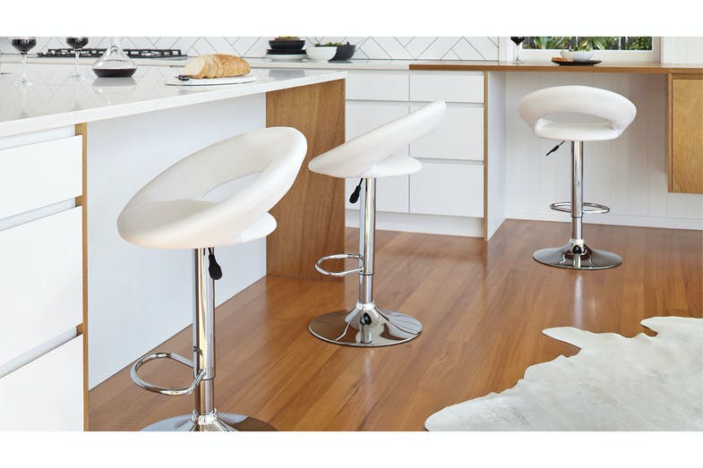 Camaro Bar Stool - White