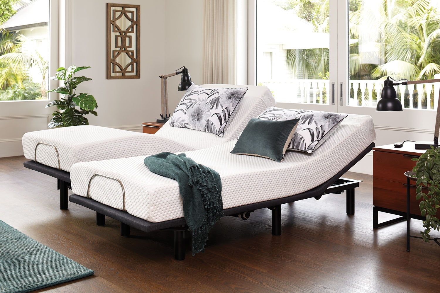 19cm Split Californian King Mattress with Essential Adjustable Base by Tempur