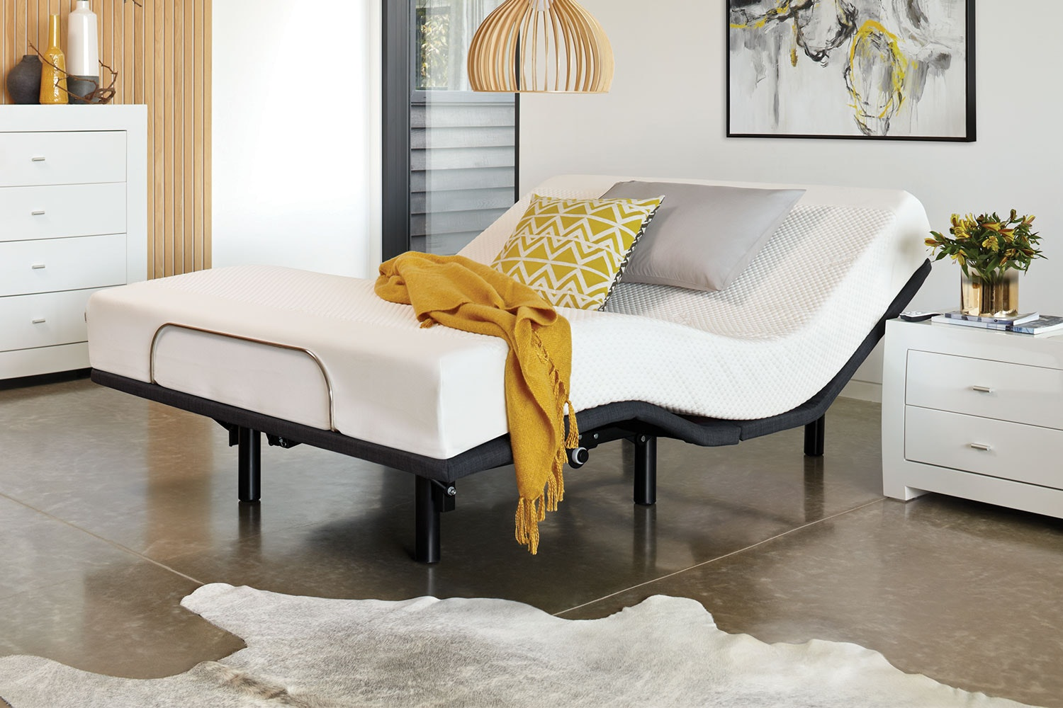 19cm Queen Mattress with Essential Adjustable Base by Tempur