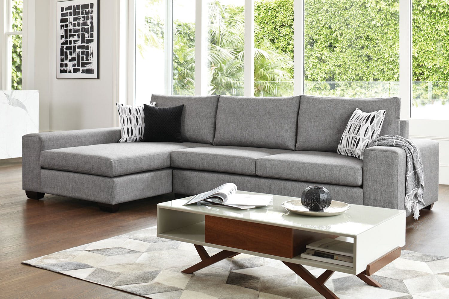 Kingdom 4 seater fabric sofa with chaise by furniture for 4 seater sofa with chaise