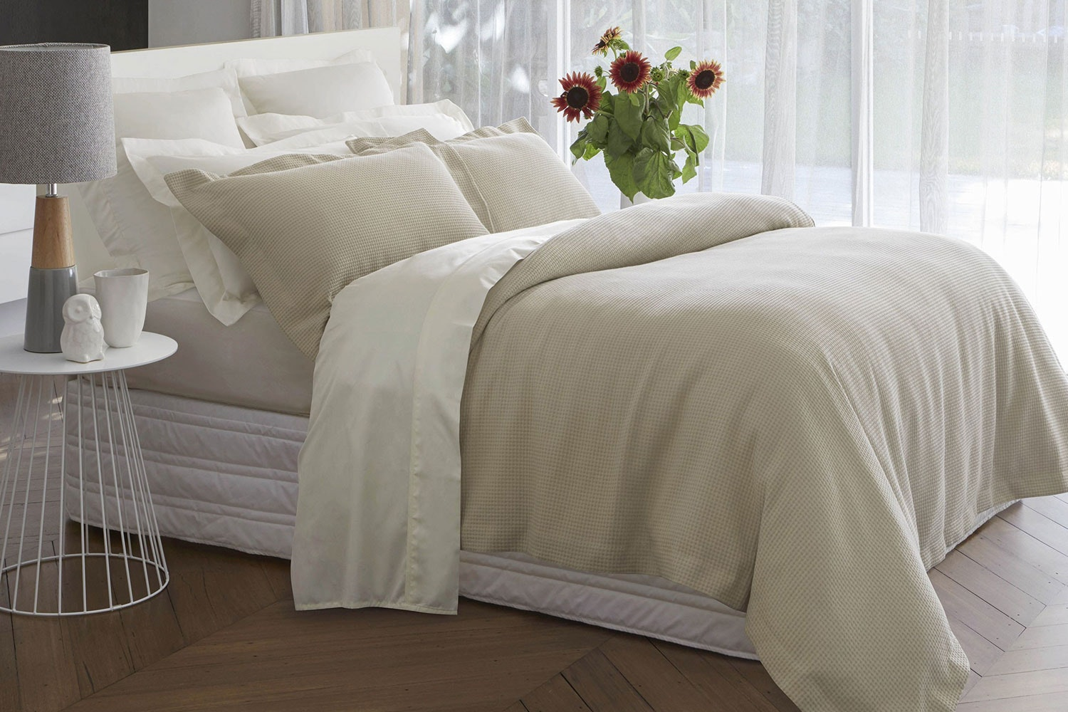 Basketweave Duvet Cover Set by Baksana