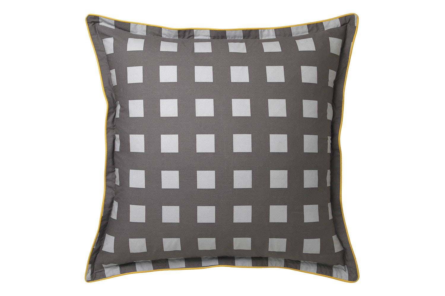 Conway Charcoal Duvet Cover Set by Platinum Collection - Euro Pillowcase