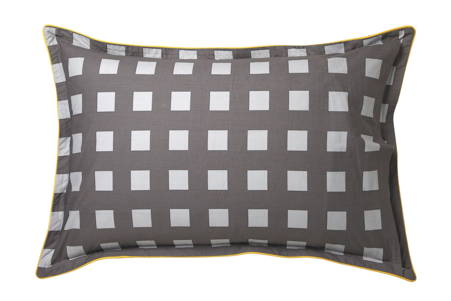 Conway Charcoal Duvet Cover Set by Platinum Collection - Pillowcase reverse
