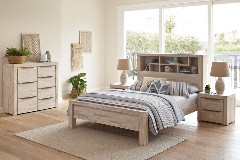Cube 4 Piece Queen Tallboy Bedroom Suite by Vivin