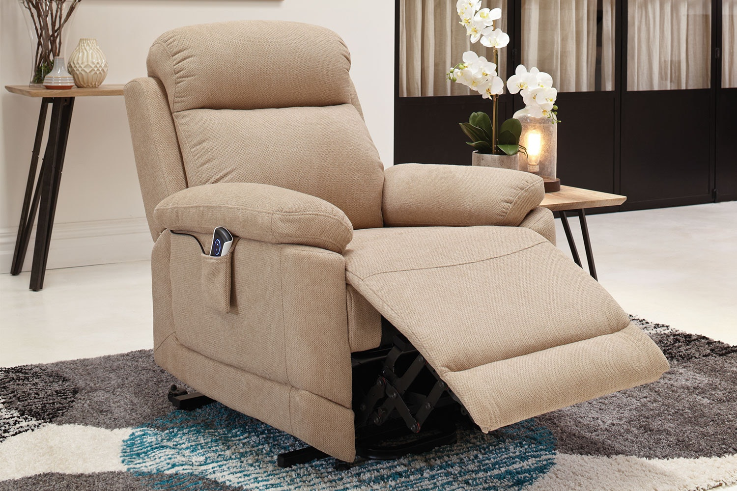 Flicker Fabric Lift Chair by Garry Masters