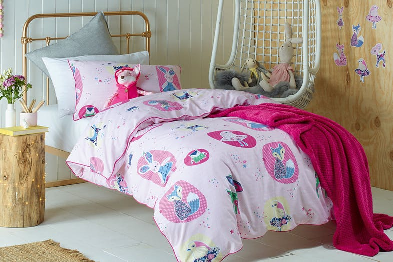 Forest Friends Duvet Cover Set  by Jiggle and Giggle