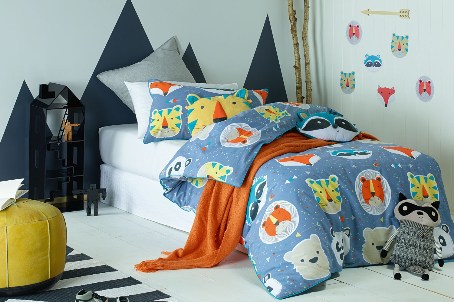 Funny Faces Duvet Cover Set  by Jiggle and Giggle